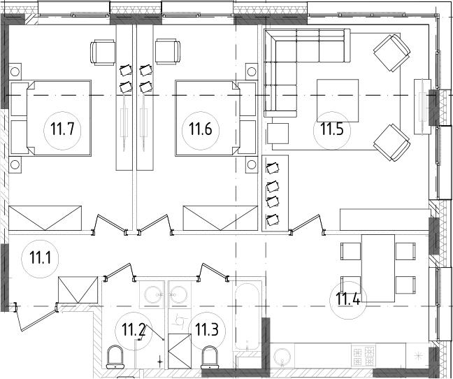 3-к.кв, 76.13 м², от 4 этажа