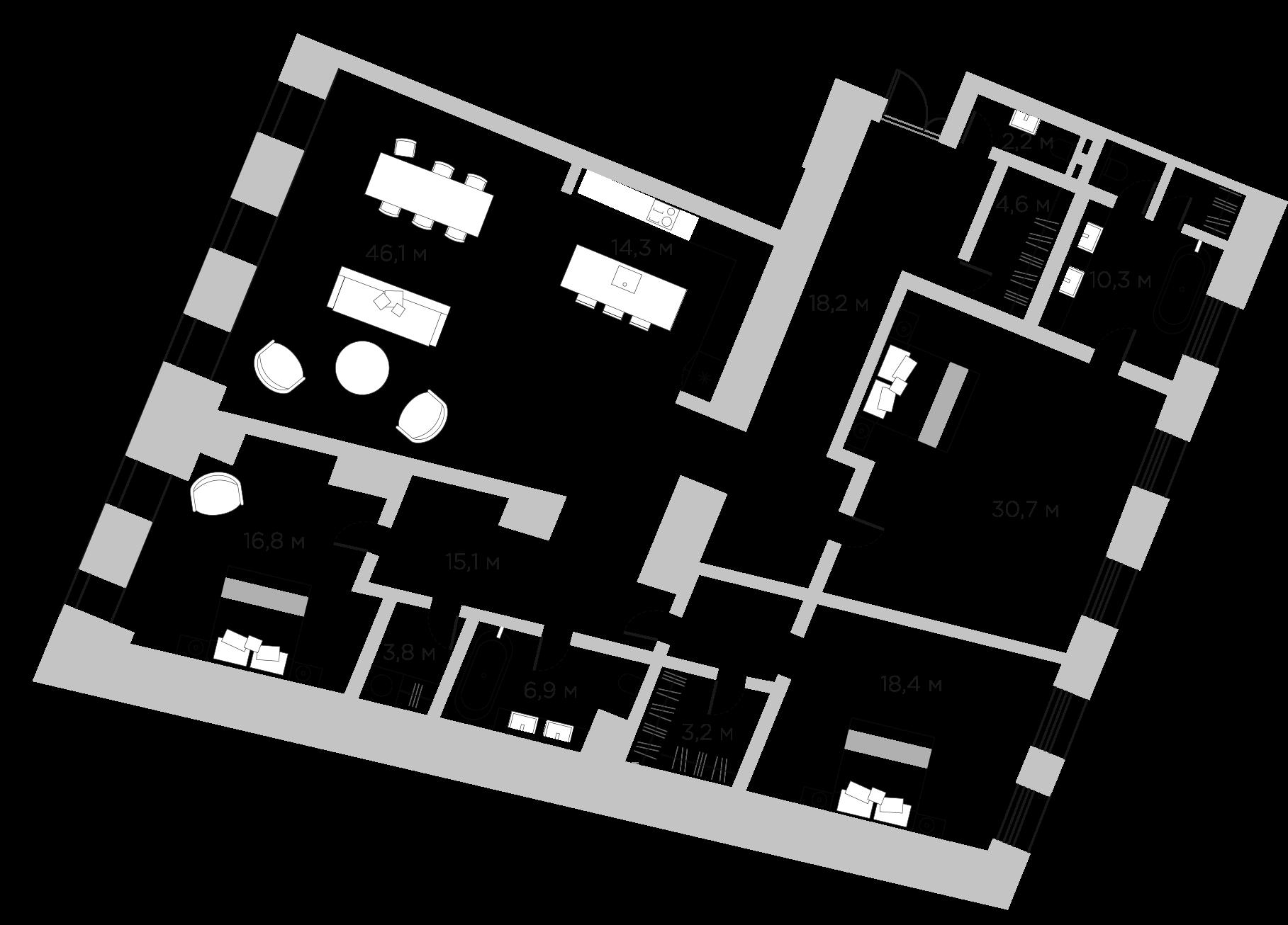 4Е-комнатная, 190.6 м²– 2