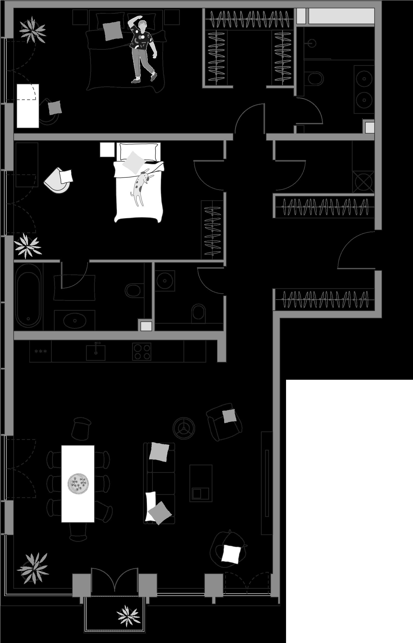 3Е-к.кв, 126.13 м²