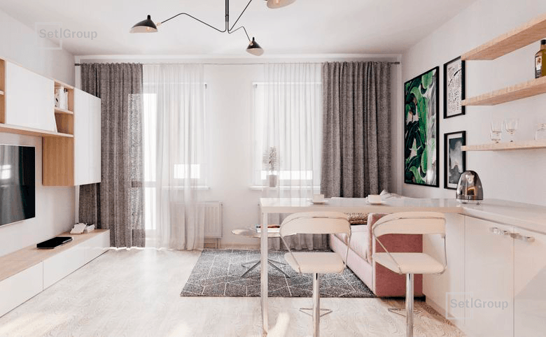 1-комнатная квартира, 32.8 м², 1 этаж – 1
