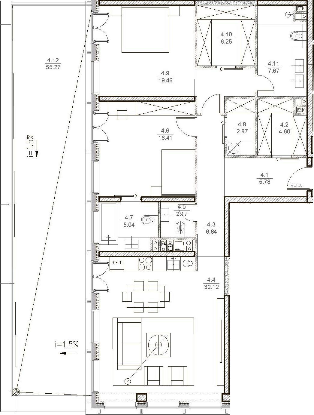 3Е-к.кв, 125.79 м²