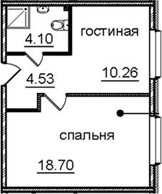 1-к.кв, 37.59 м², 11 этаж