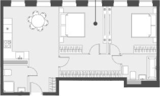 Свободная планировка, 59.7 м²– 2