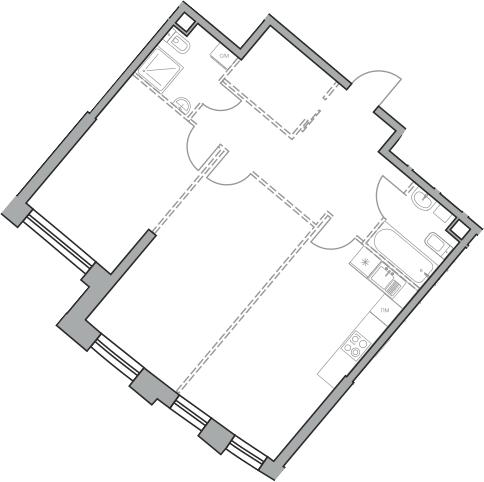 Своб. план., 70.38 м², 20 этаж