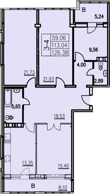 4-к.кв, 157.51 м²