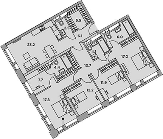 5-к.кв (евро), 129.1 м²