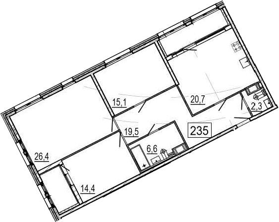 4Е-к.кв, 110.1 м², 4 этаж