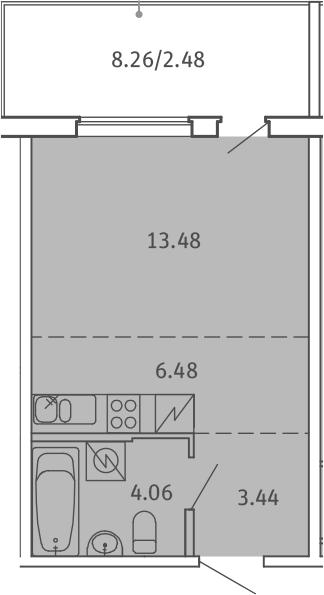 Студия, 29.94 м²– 2