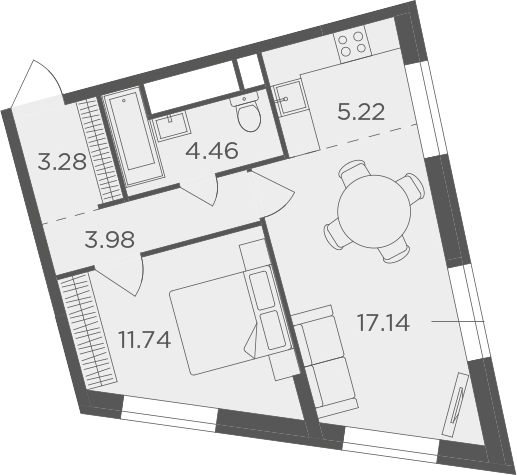 2Е-к.кв, 45.82 м²