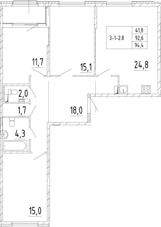 4Е-к.кв, 94.4 м²