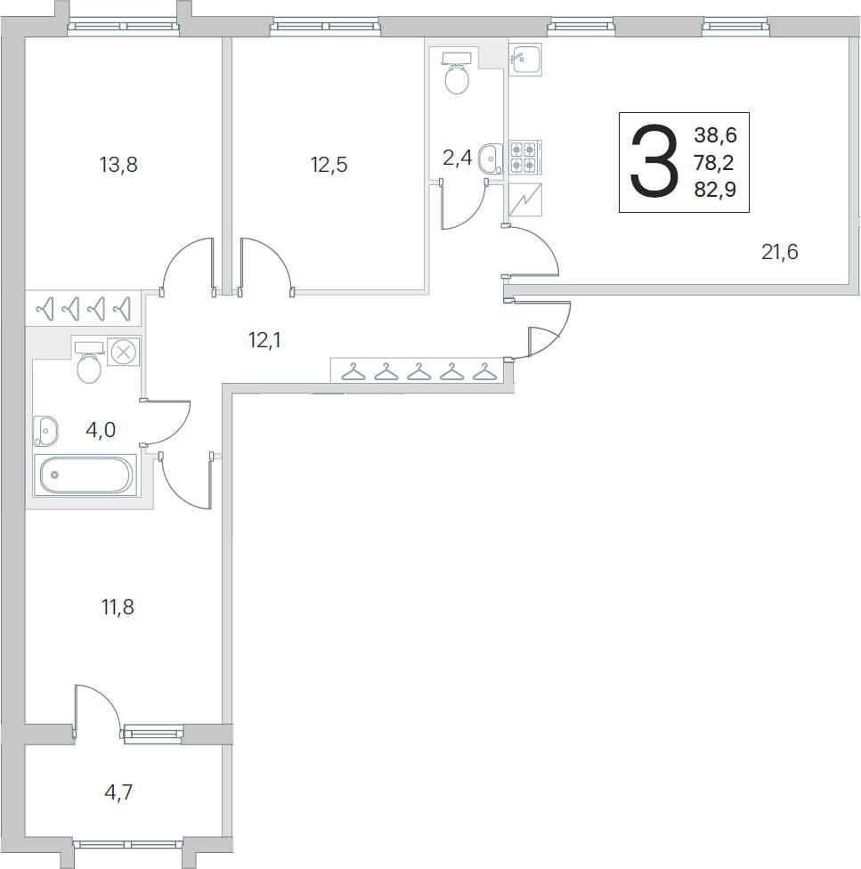 4Е-к.кв, 78.2 м²