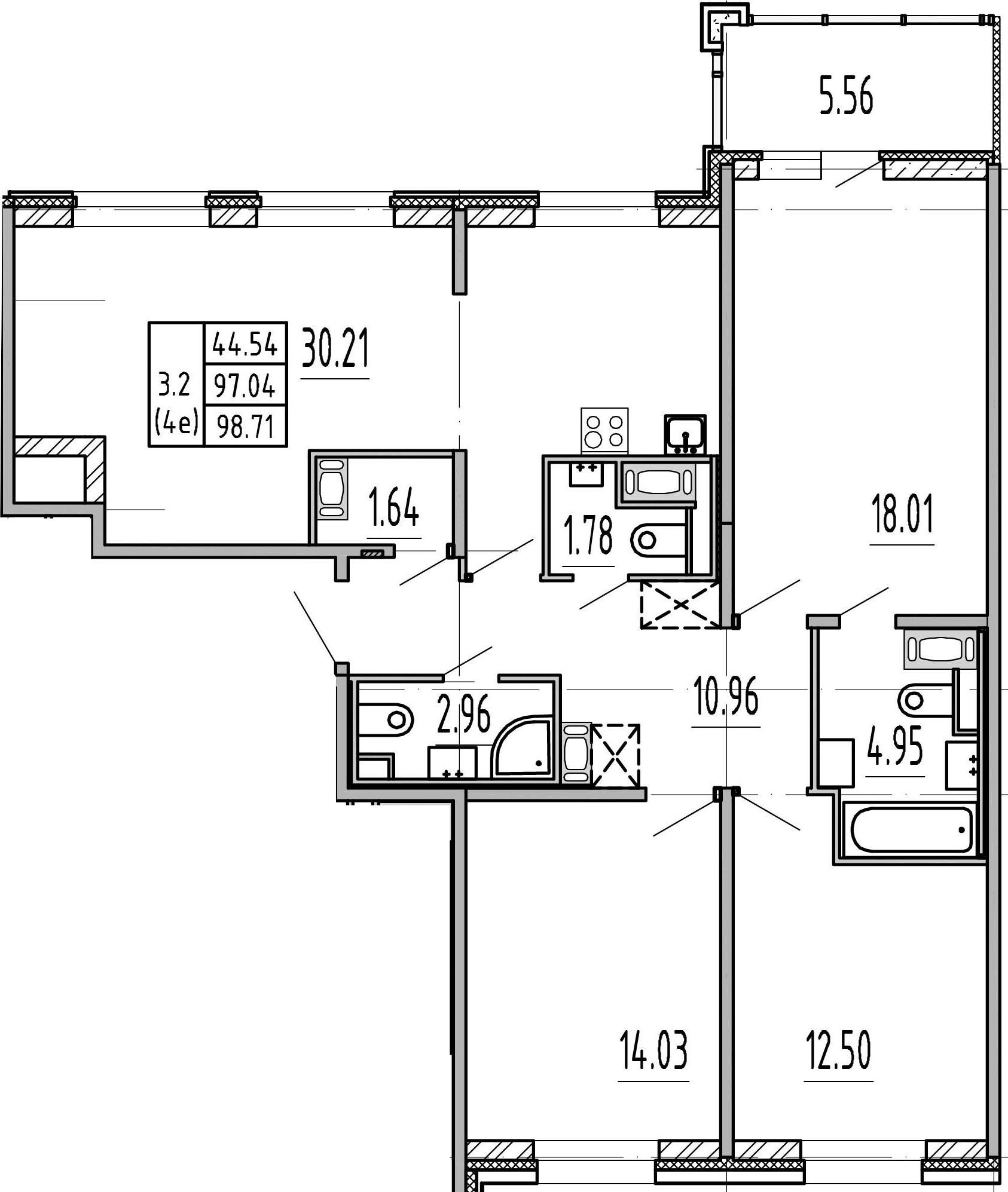 4-к.кв (евро), 102.6 м²
