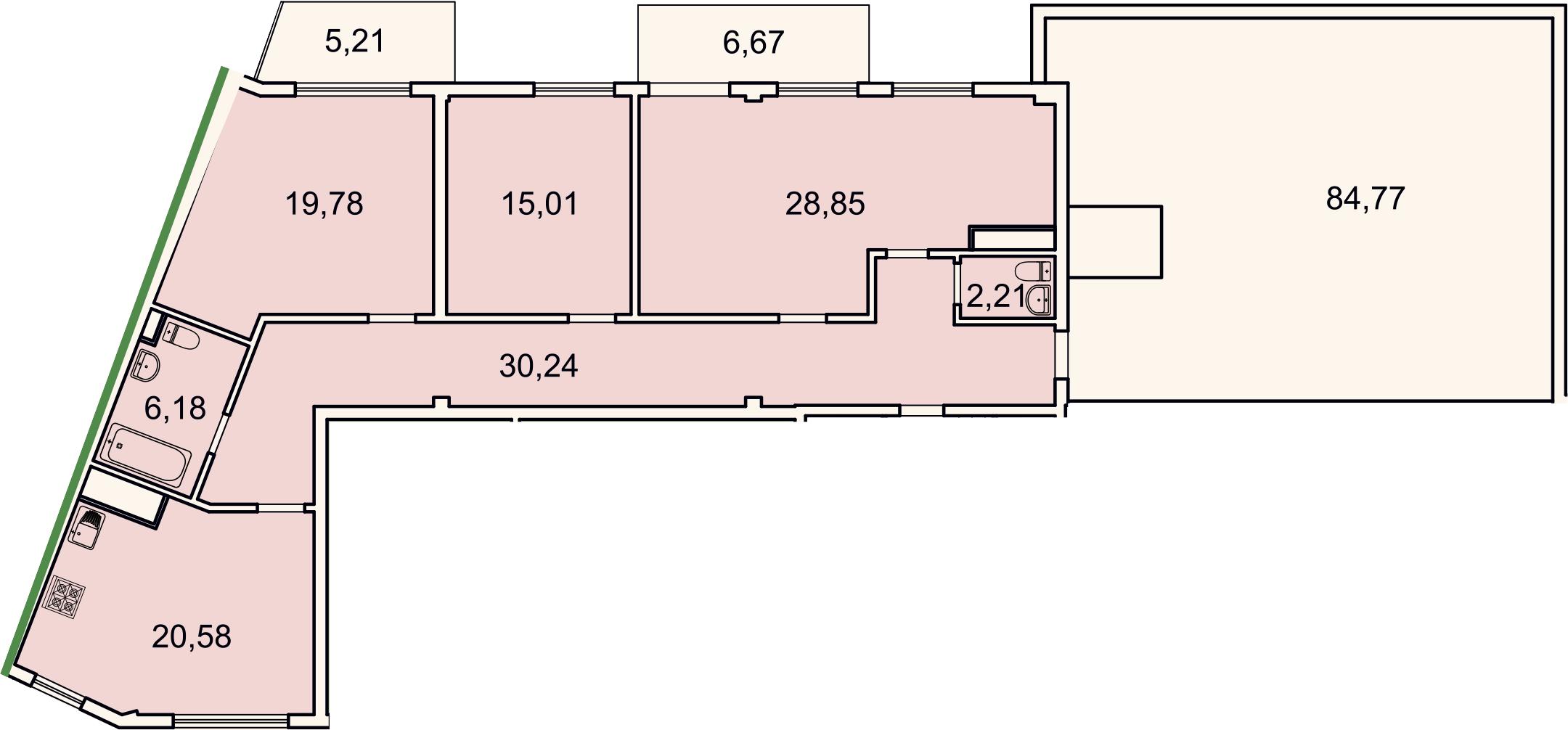 4-к.кв (евро), 219.46 м²