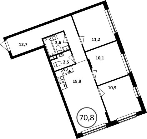 4-к.кв (евро), 70.8 м²