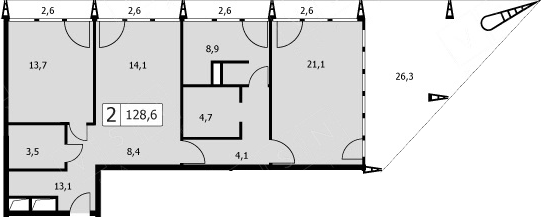3-к.кв (евро), 208.45 м²