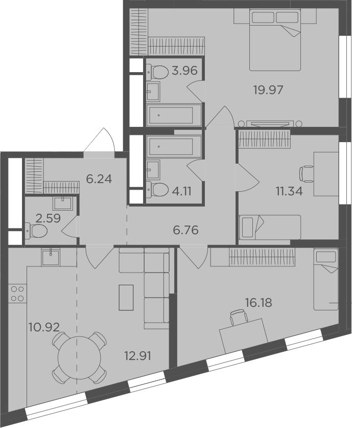 4Е-к.кв, 94.98 м²