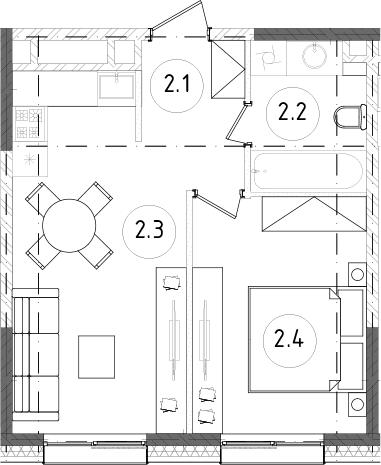 2Е-к.кв, 37.68 м²