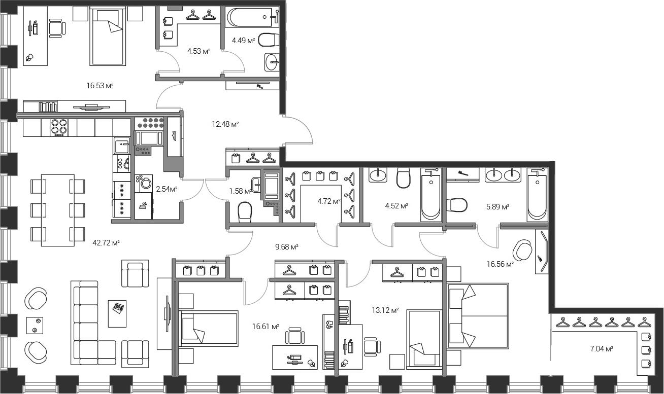 5Е-комнатная, 163.01 м²– 2