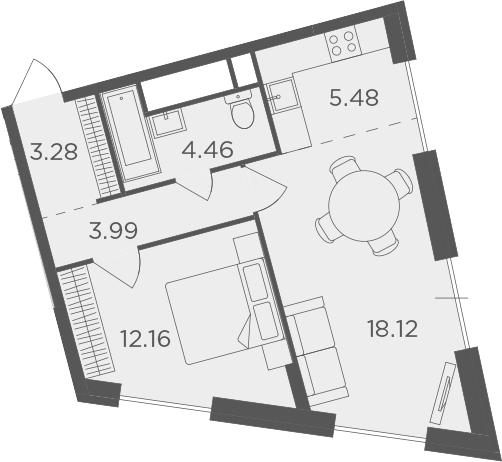 2Е-к.кв, 47.49 м²