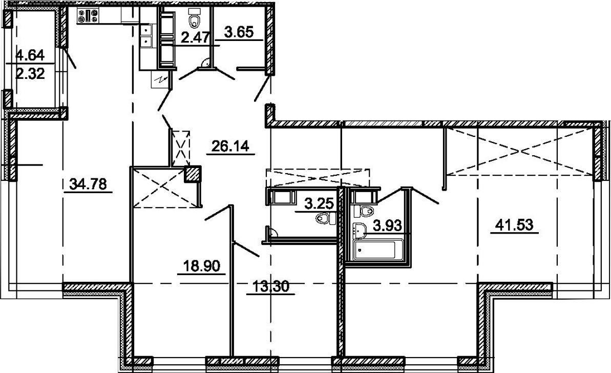 4-к.кв (евро), 152.6 м²