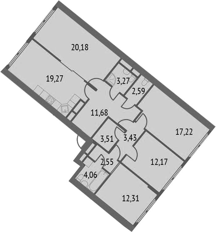 5-к.кв (евро), 112.24 м²