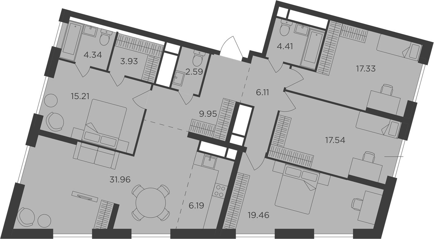 5Е-к.кв, 139.02 м²