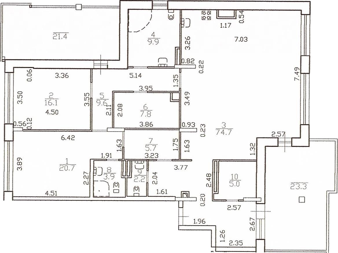 3-к.кв (евро), 200.29 м²