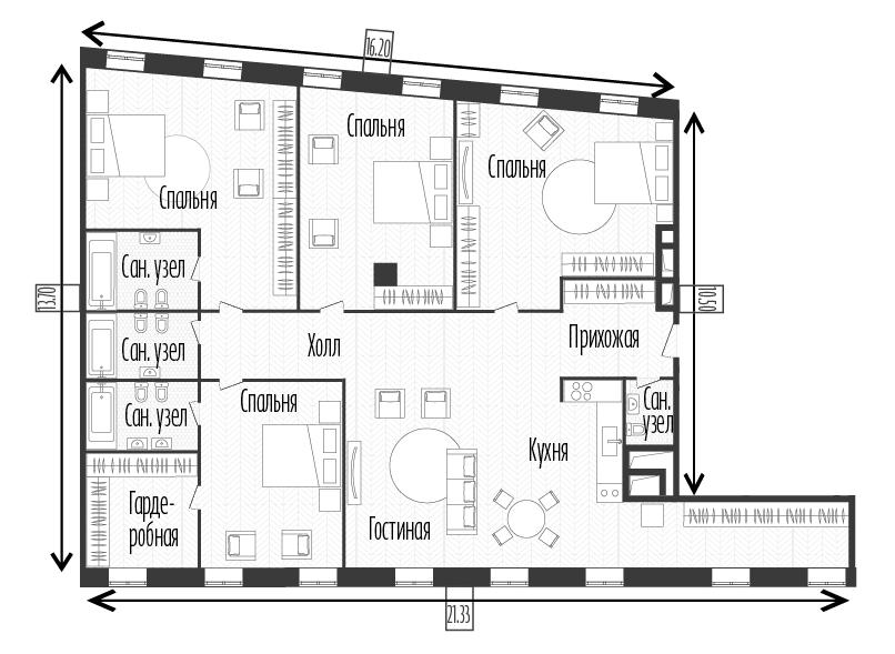 5Е-к.кв, 207 м²