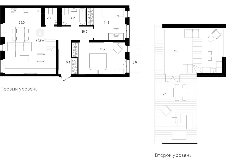 3Е-к.кв, 141.9 м²