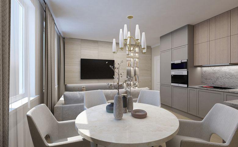 3Е-комнатная квартира, 55.62 м², 2 этаж – 4