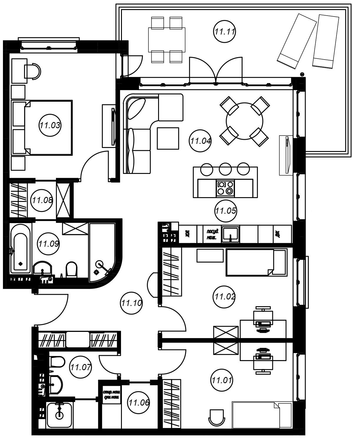 4Е-комнатная, 96.39 м²– 2